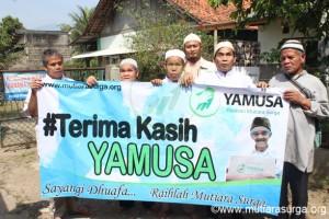 Pembagian Bantuan Pangan di Majelis Mentari Hati (Komunitas Tuna Netra), Jl. Jabaru I No.75 Rt. 03/05 Ciomas Pasir Kuda – Bogor Barat