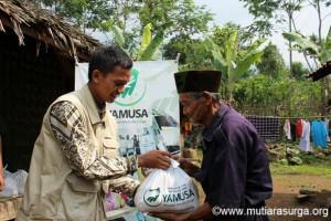 Bantuan Pangan Dhuafa Kp. Cibalai, Desa Tapos 1, Kec. Tenjolaya, Kab. Bogor