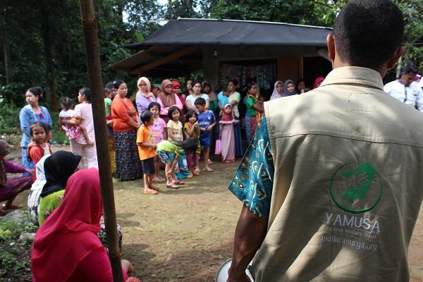 Tebar pangan di Kp. Nambo Rt. 04/03 Desa Sukajaya, kec. Tamansari, Kab. Bogor