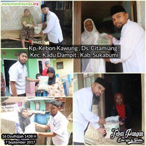 Tebar Pangan di Kp. Kebon Kaung Desa Citamiang kec. kadudampit. Kab, Sukabumi.