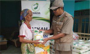 distribusi pangan untuk dhuafa