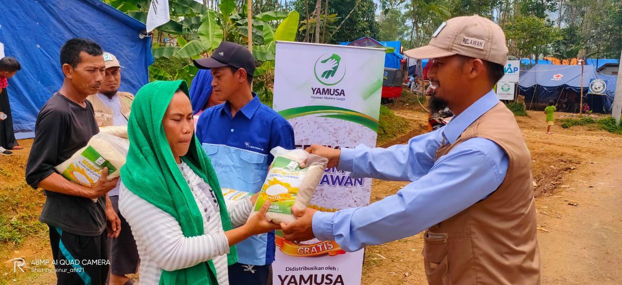Yamusa Kembali Kunjungi 195 Korban Banjir Rancabakti Nanggung