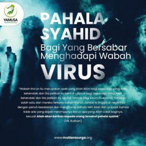 PAHALA SYAHID BAGI YANG BERSABAR MENGHADAPI MUSIBAH VIRUS