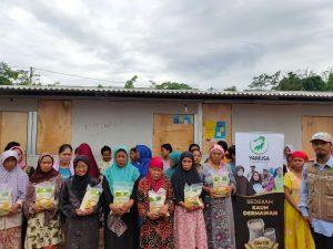Yamusa Berbagi Pangan di Posko Pengungsian Banjir dan Longsor