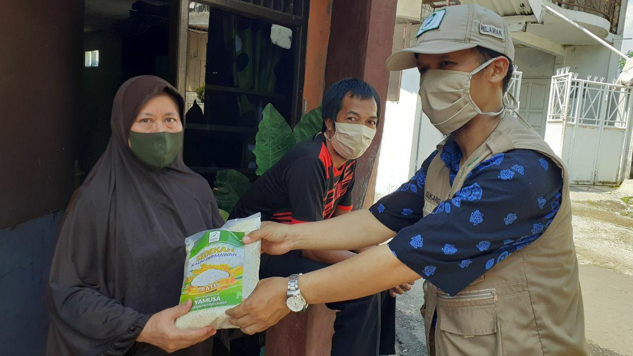 Yamusa Tebar Pangan Antisipasi Lockdown Tamansari Kab Bogor