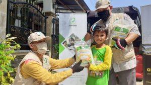 Yamusa Tebar Pangan Kepada 25 Yatim dan 105 Janda Ciseeng Kab Bogor