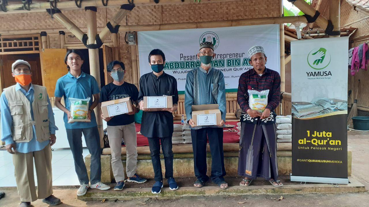 Bantuan Mushaf Al-Qur'an dan Pangan untuk Ponpes Abdurrahman bin Auf Kab Bogor