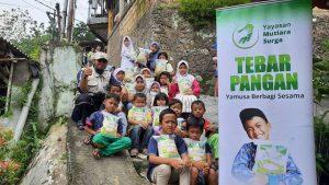 Distribusi Paket Beras kepada Anak-anak Jalanan Majlis Baitul Albar Bogor