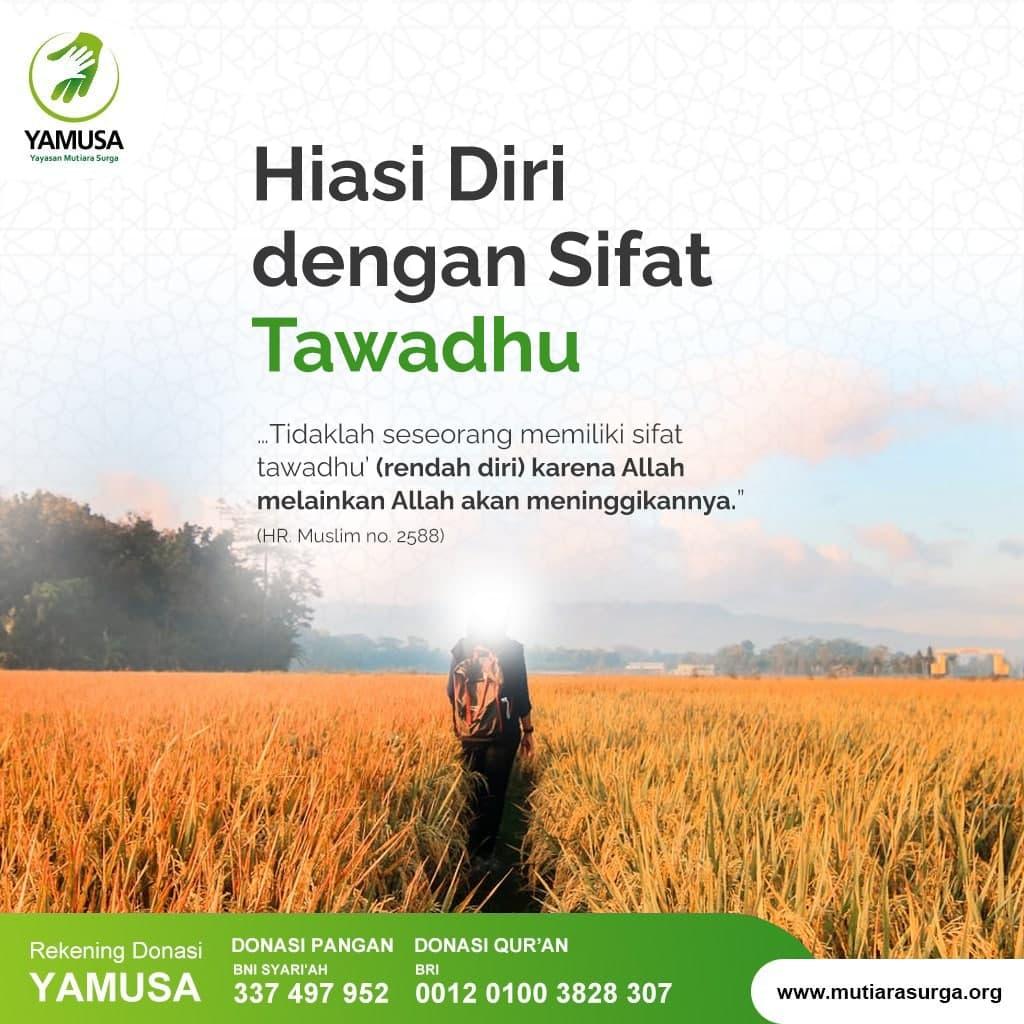 Hiasi Diri dengan Sifat Tawadhu'