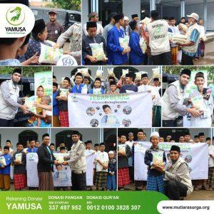 Bantuan Beras untuk Warga Dhuafa dan Ponpes Al-Irsyad Serang Banten