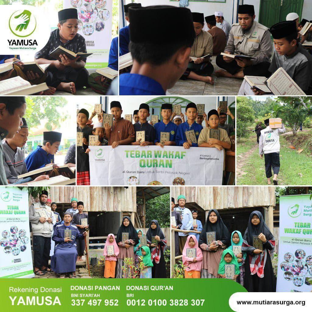 Distribusi Mushaf dan Beras ke Ponpes Amalul Ummah Serang Banten