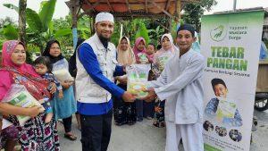 Yamusa Berbagi Pangan di Desa Sukamantri Kab Bogor