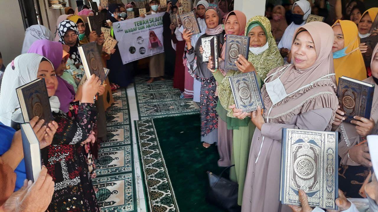 Wakaf Al-Quran untuk MT Muttaqin di Kp Rancabungur