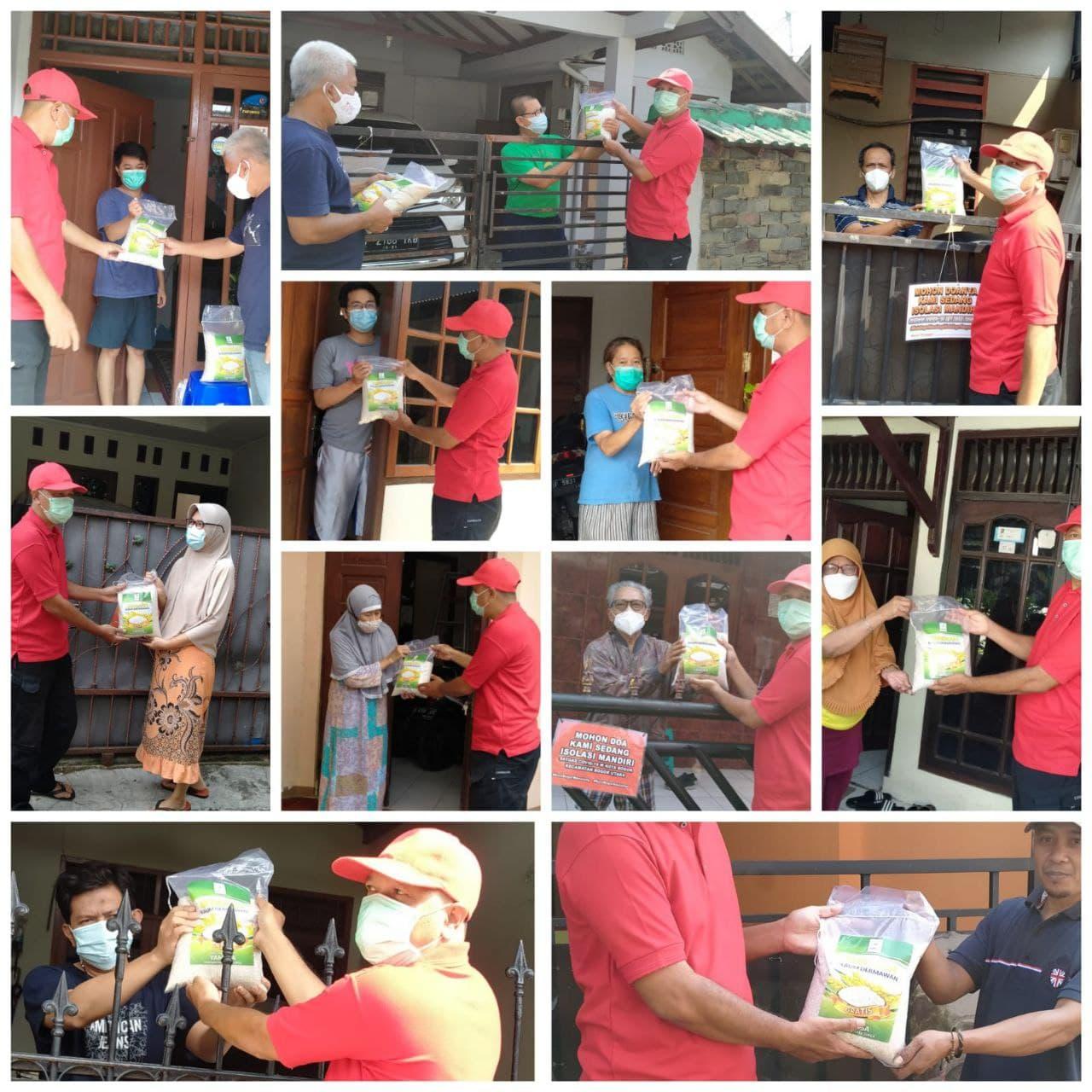 Paket Pangan untuk Warga Dhuafa yang Terpapar Covid